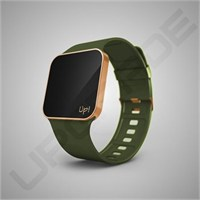 Upgrade Matte Rose Gold & Green Kol Saati