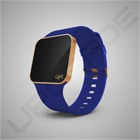 Upgrade Matte Rose Gold & Blue Kol Saati