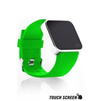 Upwatch Touch Shiny Silver&Ngreen Kol Saati