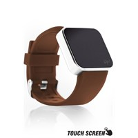 Upwatch Touch Shiny Silver&Brown Kol Saati