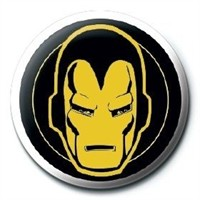 Pyramid International Rozet Marvel Retro Iron Man Icon