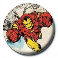 Pyramid International Rozet Marvel Retro Iron Man Comic