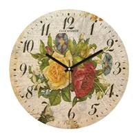 Clockmaker By Cadran Retro Vintage 30X30 Mdf Duvar Saati Cmm132