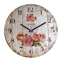 Clockmaker By Cadran Retro Vintage 30X30 Mdf Duvar Saati Cmm141
