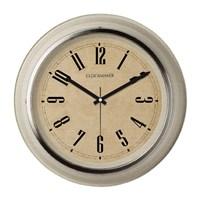 Clockmaker By Cadran Retro Vintage 30X30 Mdf Duvar Saati Cmm148