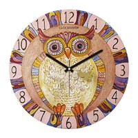 Clockmaker By Cadran Retro Vintage 30X30 Mdf Duvar Saati Cmm152