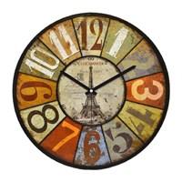 Clockmaker By Cadran Retro Vintage 30X30 Mdf Duvar Saati Cmm154