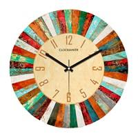 Clockmaker By Cadran Retro Vintage 30X30 Mdf Duvar Saati Cmm162