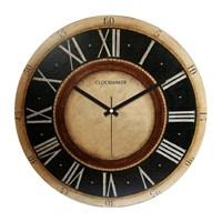 Clockmaker By Cadran Retro Vintage 30X30 Mdf Duvar Saati Cmm168