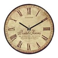 Clockmaker By Cadran Retro Vintage 30X30 Mdf Duvar Saati Cmm174