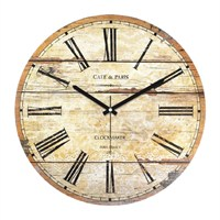 Clockmaker By Cadran Retro Vintage 30X30 Mdf Duvar Saati Cmm175