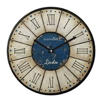 Clockmaker By Cadran Retro Vintage 30X30 Mdf Duvar Saati Cmm35