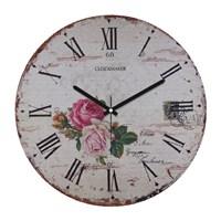 Clockmaker By Cadran Retro Vintage 30X30 Mdf Duvar Saati Cmm44