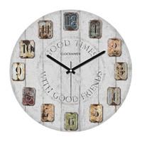 Clockmaker By Cadran Retro Vintage 30X30 Mdf Duvar Saati Cmm50