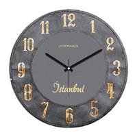 Clockmaker By Cadran Retro Vintage 30X30 Mdf Duvar Saati Cmm59