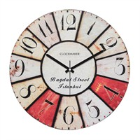 Clockmaker By Cadran Retro Vintage 30X30 Mdf Duvar Saati Cmm60