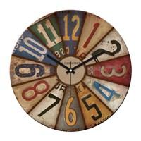 Clockmaker By Cadran Retro Vintage 30X30 Mdf Duvar Saati Cmm62