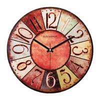 Clockmaker By Cadran Retro Vintage 30X30 Mdf Duvar Saati Cmm92