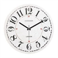 Clockmaker By Cadran Retro Vintage 30X30 Mdf Duvar Saati Cmm96