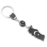 Tesbihane 925 Ayar Gümüş Türkiye Temalı Anahtarlık