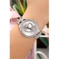 Morvizyon Kalpli İç Tasarımlı Gümüş Bayan Saat Modeli