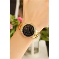 Morvizyon Sarı Kapalama Siyah İç Tasarımlı Bayan Saat