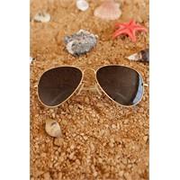 Morvizyon Clariss Marka Sarı Kaplama Metal Çerçeveli Erkek Güneş Gözlük Modeli