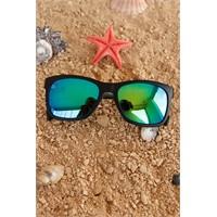 Morvizyon Clariss Marka Siyah Mat Çerçeve Tasarımlı Renkli Cam Detaylı Unisex Güneş Gözlüğü