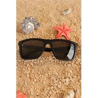 Morvizyon Clariss Marka Siyah Mat Çevçeveli Siyah Camlı Unisex Güneş Gözlüğü Modeli
