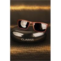 Morvizyon Clariss Marka Renkli Çerçeve Tasarımlı Siyah Cam Detaylı Bayan Gözlük Modeli