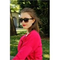 Morvizyon Yeni Sezon Clariss Marka Siyah Geniş Çerçeve Tasarımlı Bayan Güneş Gözlük Modeli