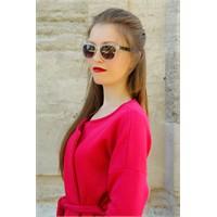 Morvizyon Yeni Sezon Clariss Marka Beyaz Şeffaf Çerçeve Tasarımlı Bayan Güneş Gözlük Modeli