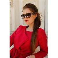 Morvizyon Yeni Sezon Clariss Marka Parlak Siyah Çerçeve Tasarımlı Bayan Güneş Gözlük Modeli