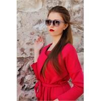Morvizyon Clariss Marka Mor Şeffaf Çerçeve Tasarımlı Bayan Güneş Gözlük Modeli