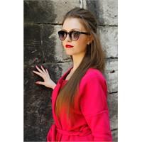 Morvizyon Clariss Marka Geniş Çerçeveli Siyah Tasarım Bayan Güneş Gözlük Modeli