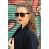 Morvizyon Clariss Marka Yeni Sezon Siyah Çerçeve Tasarımlı Şık Bayan Güneş Gözlük Modeli