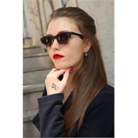 Morvizyon Clariss Marka Siyah Yarım Çerçeve Tasarımlı Bayan Güneş Gözlük Modeli