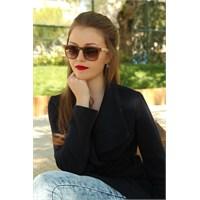 Morvizyon Clariss Marka İki Renkli Yeni Sezon Bayan Güneş Gözlük Modeli