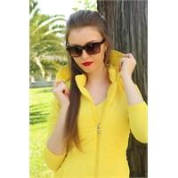 Morvizyon Clariss Marka Kırmızı Detaylı Geniş Tasarımlı Bayan Gözlük