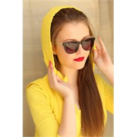 Morvizyon Clariss Marka Kırık Beyaz Detaylı Siyah Geniş Çerçeveli Bayan Gözlük
