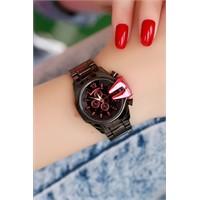 Morvizyon Clariss Marka Siyah Tasarımlı Bayan Saat