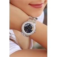Morvizyon Clariss Marka Siyah İç Renk Tasarımlı Bayan Saat