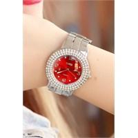Morvizyon Clariss Marka Gri İç Tasarımlı Bayan Saat