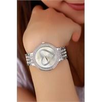 Morvizyon Clariss Marka Gri Metal Tasarımlı Bayan Saat