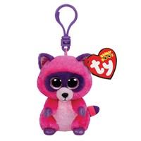 Ty Peluş Oyuncak Roxie - Pink-Purple Raccoon Anahtarlık 12 Cm