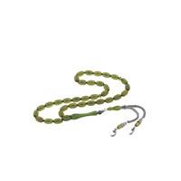 Olivin Accesories Gümüş Vav Püsküllü Yeşil Sıkma Kehribar Tesbih