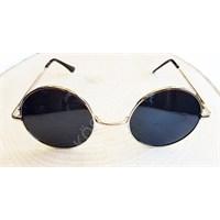 Köstebek Gold Çerçeveli Siyah John Lennon Güneş Gözlüğü Jlg023