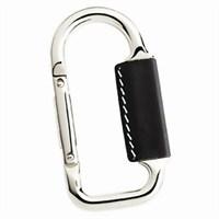 Nektar 65376 Siyah Derili Karabiner Metal Anahtarlık