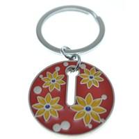 Nektar G08083 Çiçekli Yuvarlak Anahtarlık Kırmızı