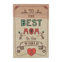 Biggdesign Best Mom Ahşap Kartpostal
